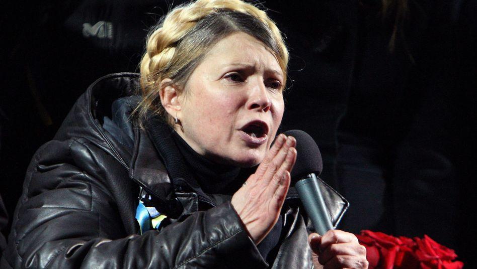Timoschenko (am Samstag auf dem Maidan): Reise nach Deutschland