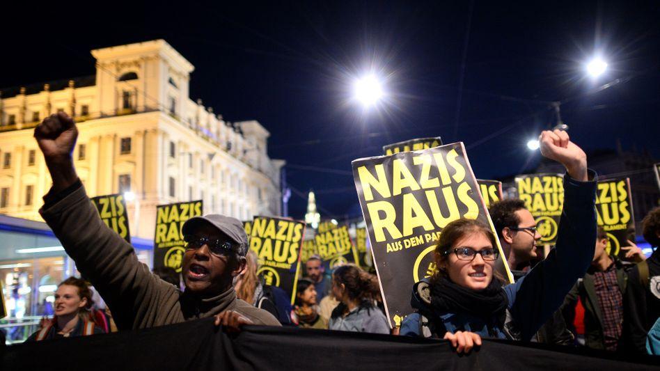 Anti-Nazi-Protest in Wien, 13. Oktober 2017