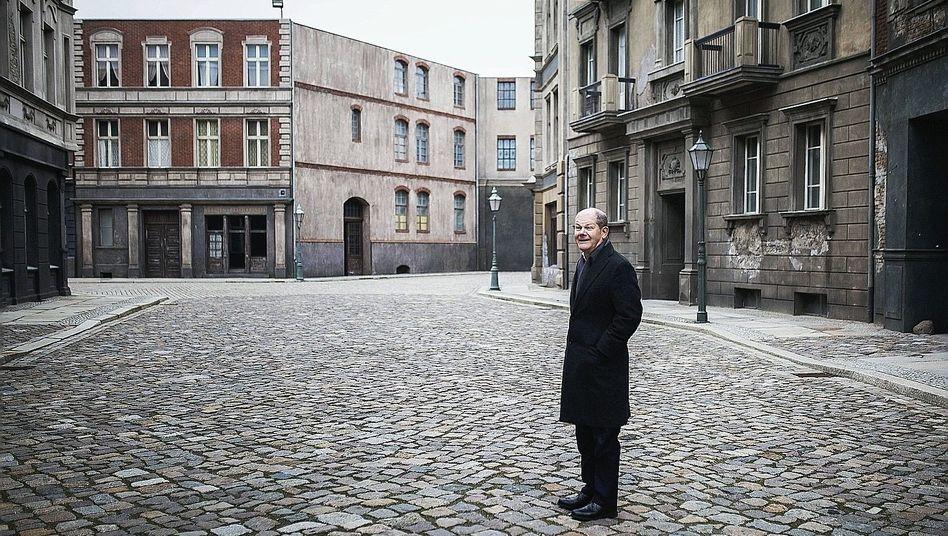 """Minister Scholz im Filmpark Babelsberg in Potsdam 2019:""""Wir passen ganz gut zueinander"""""""