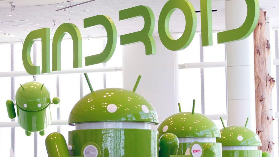 Android-Maskottchen: Angriff von allen Seiten