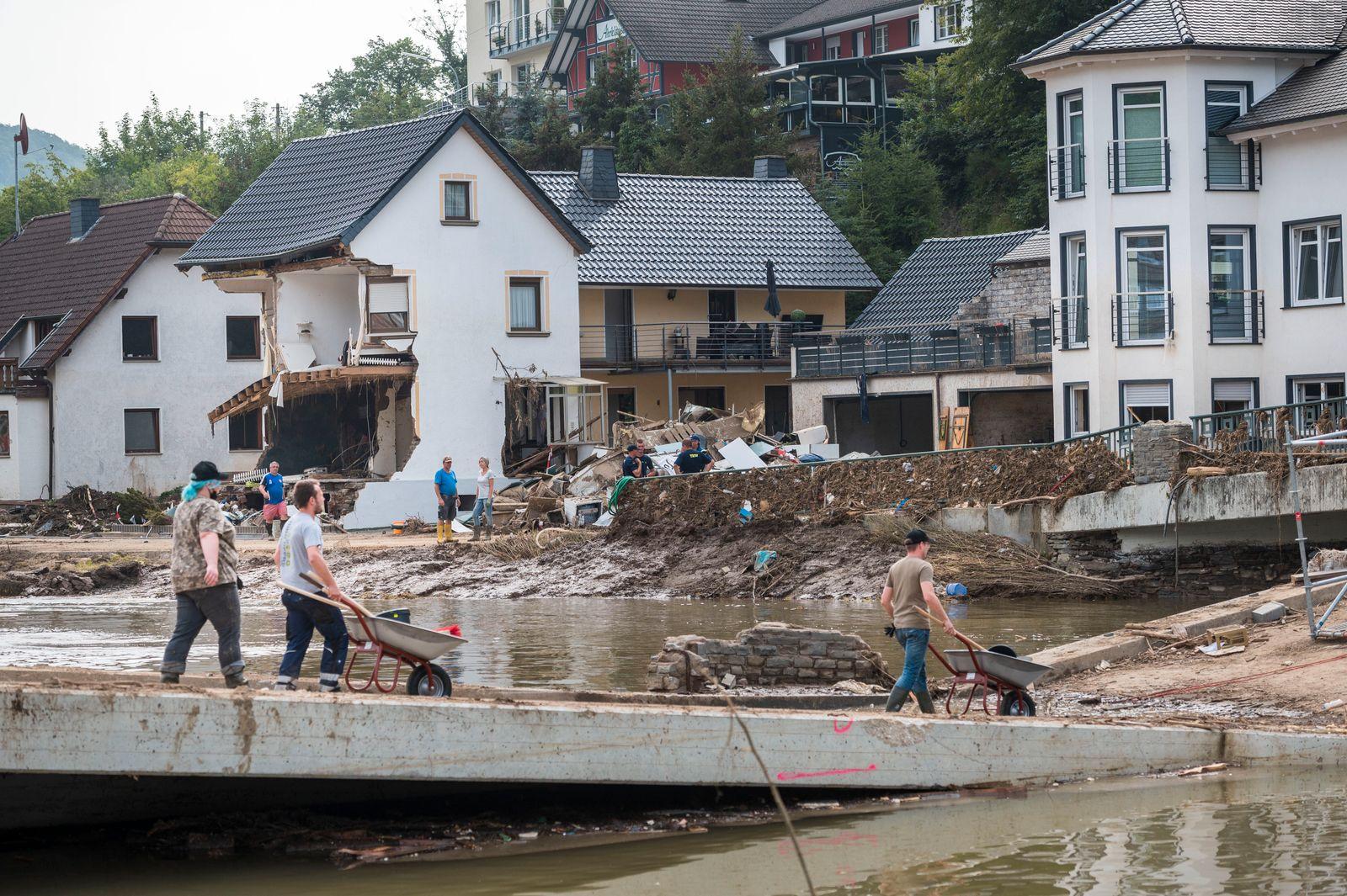 Ahr River Region Following Catastrophic Flooding