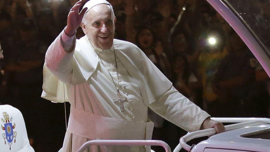 Papst Franziskus in Manila: Meinungsfreiheit hat für ihn Grenzen