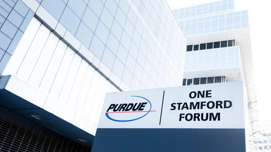Firmensitz von Purdue Pharma in Connecticut
