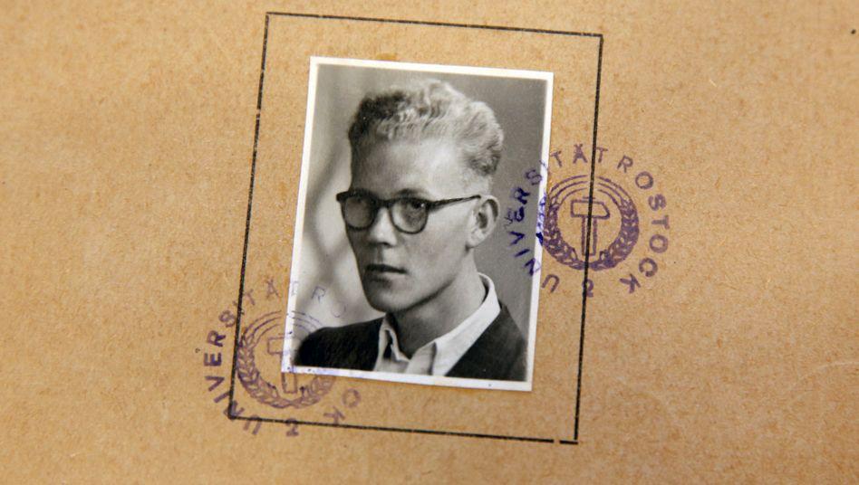 DDR-Studentenausweis von Uwe Johnson
