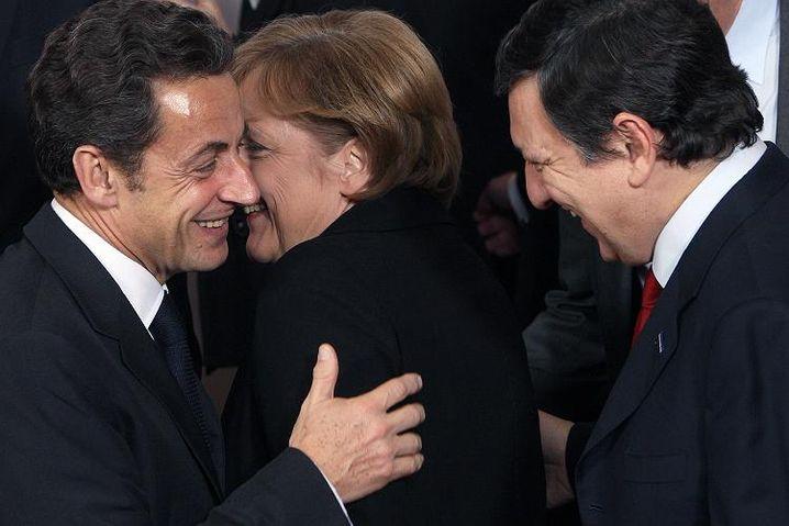 Sarkozy, Merkel, Barroso in Brüssel: Europa wird beim G-20-Gipfel in London am 2. April an einem Strang ziehen