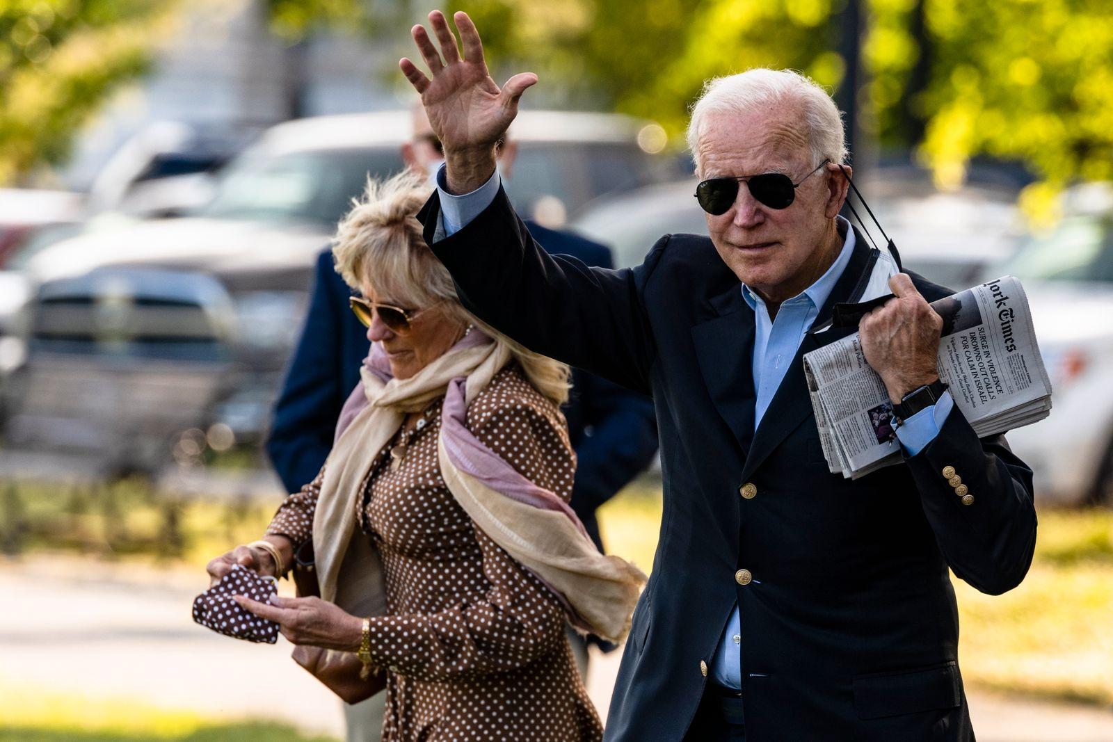 US President Biden Departs White House
