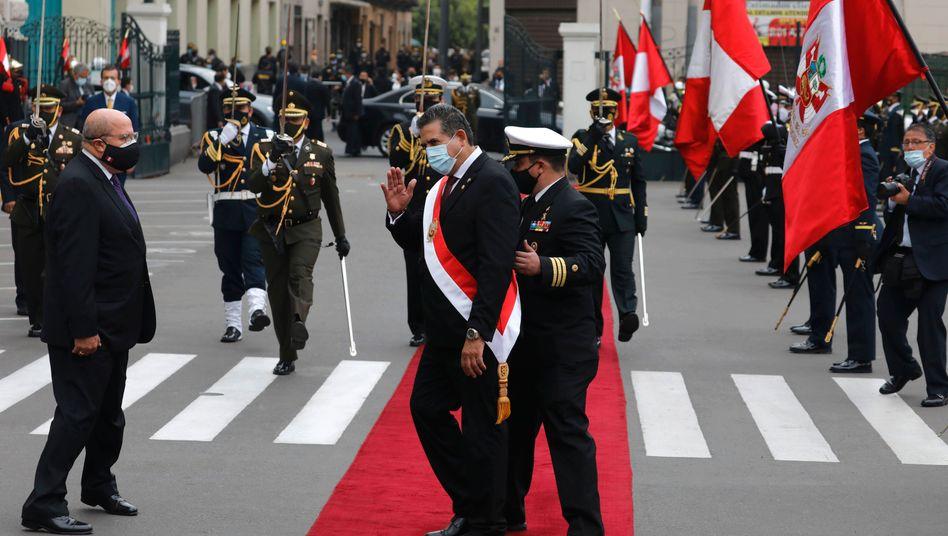 Intermimspräsident für nicht mal eine Woche: Manuel Merino dankte am Sonntag ab
