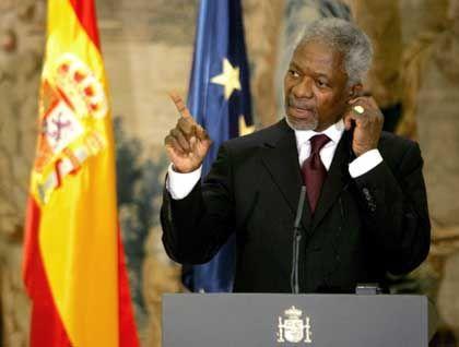 Anti-Terror-Konferenz in Madrid: Kofi Annan will die Rechtstaatlichkeit nicht opfern