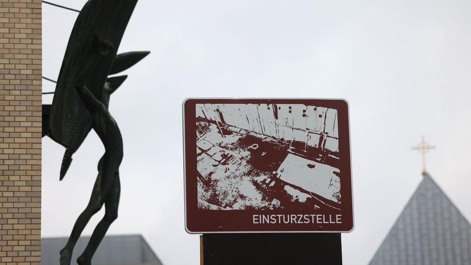 Einsturzstelle des Kölner Stadtarchivs
