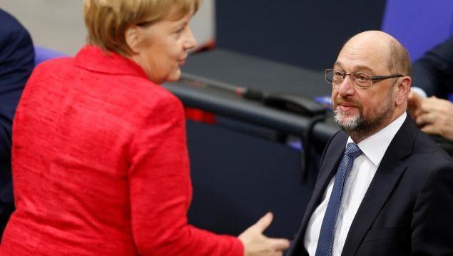 Angela Merkel, Martin Schulz