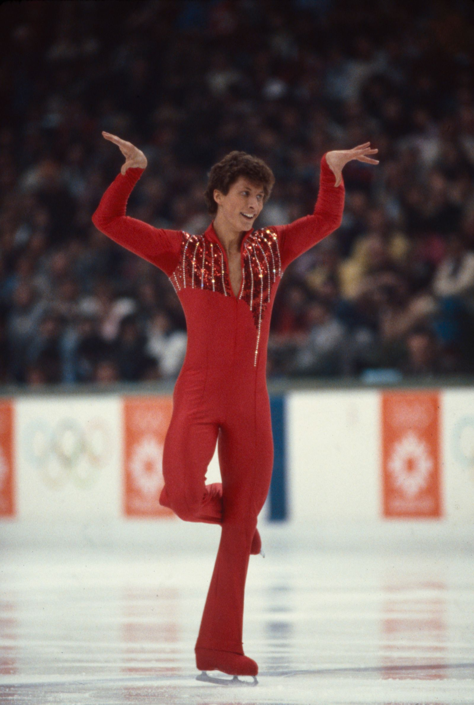 Norbert Schramm Competing In The 1984 Winter Olympics