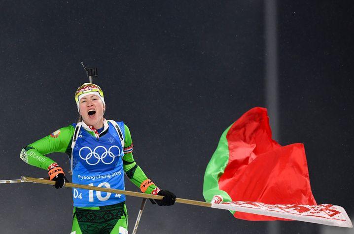 Weißrusslands letzte Läuferin Darya Domracheva
