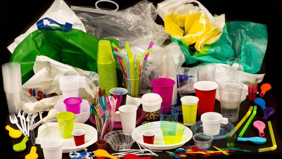 Einweggeschirr aus Plastik