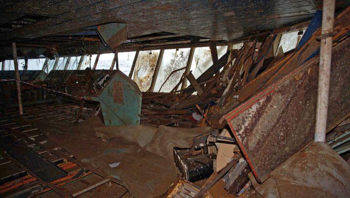 """""""Costa Concordia"""": So sieht es im Innern des Kreuzfahrtschiffs aus"""