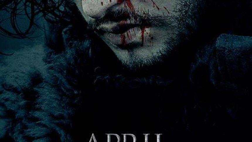 """Blutverschmiert - aber doch lebendig? Ausschnitt aus HBO-Plakat für die sechste Staffel von """"Game of Thrones"""""""