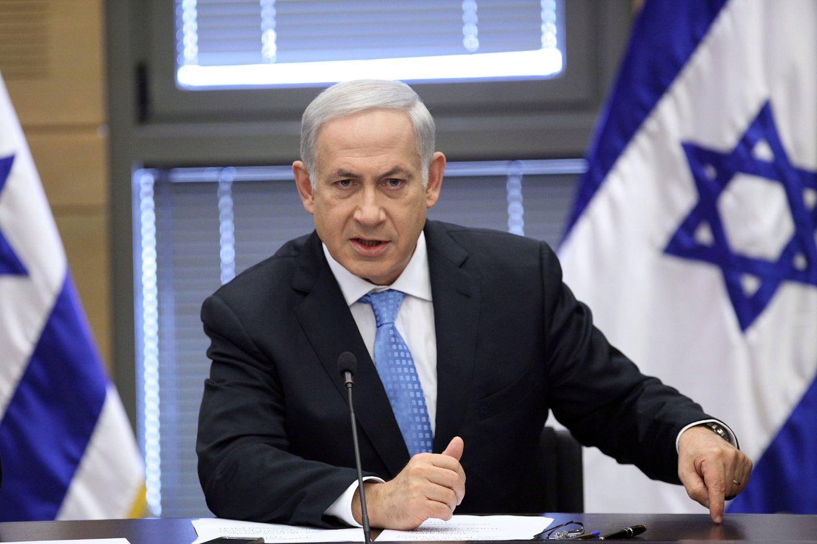 Benjamin Netanyahu in der Knesset
