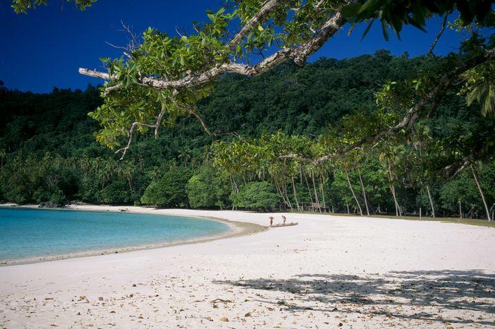 """Postkarten-Ansichten von Espiritu Santo auf Vanuatu: So sah es vor """"Pam"""" aus"""