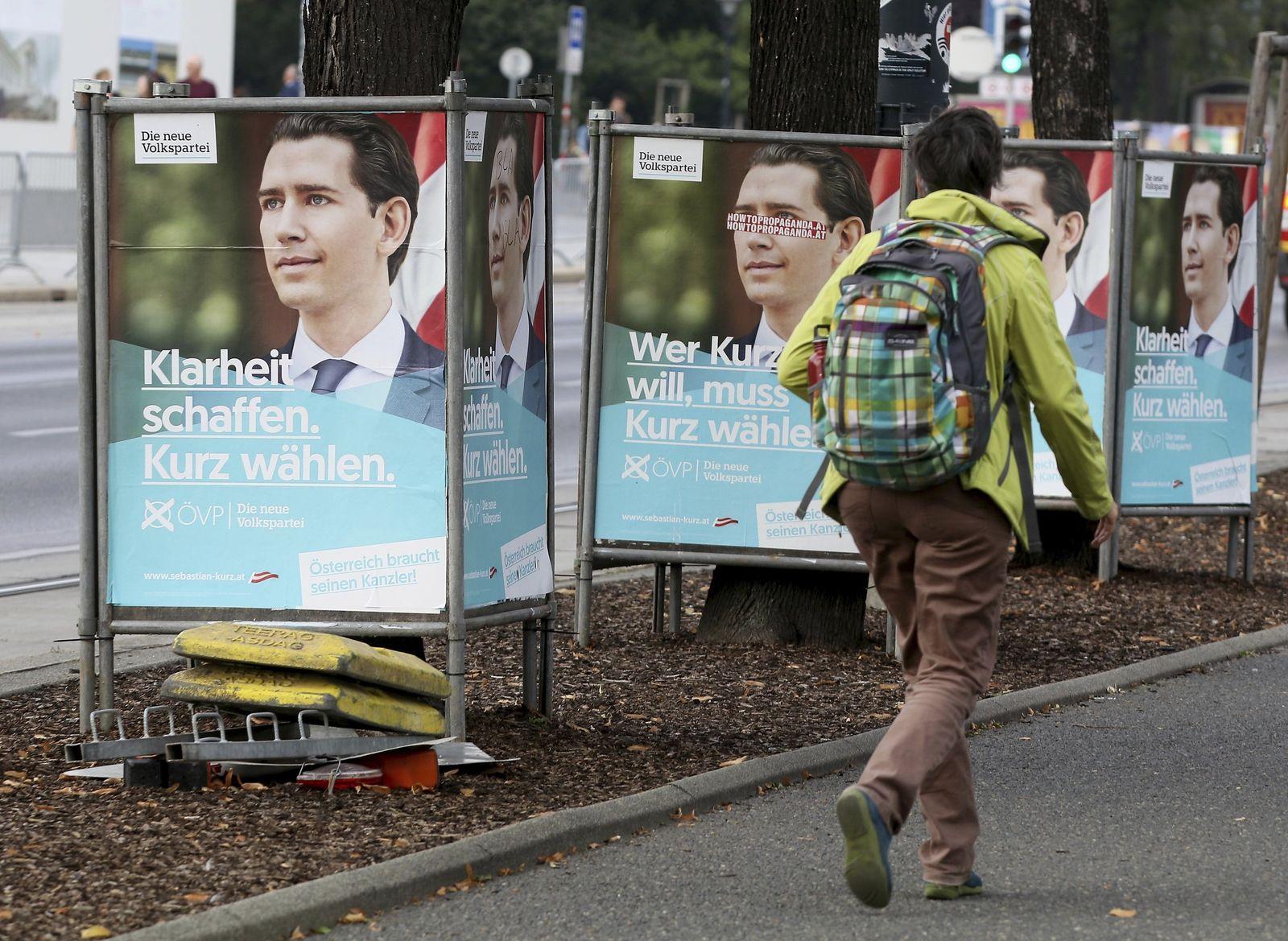 Wahlplakat Sebastian Kurz