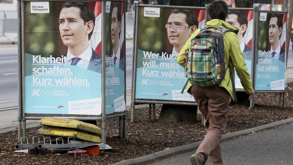 Wahlplakate von Sebastian Kurz: Erneute Koalition mit der FPÖ nicht ausgeschlossen
