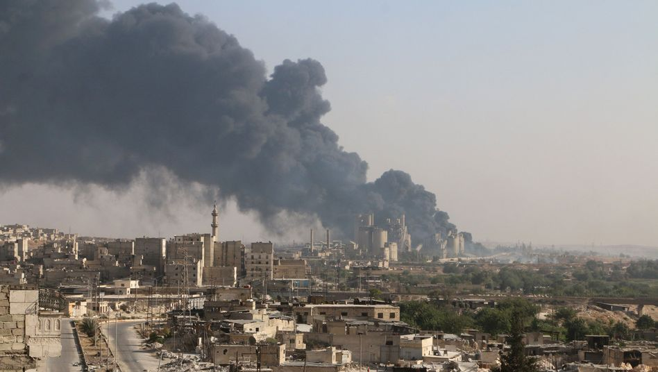 Rauch über Aleppo