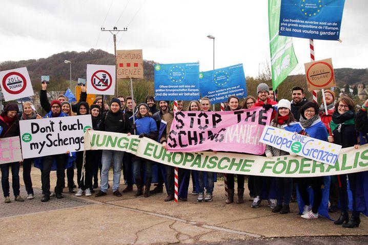 Protest der Jungen Europäischen Föderalisten: Sorge um den Austausch