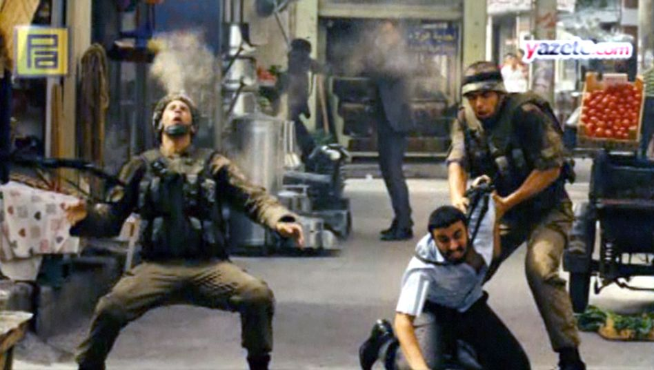 "A scene from ""Valley of the Wolves"". The film has been accused of being anti-American and anti-Semitic."