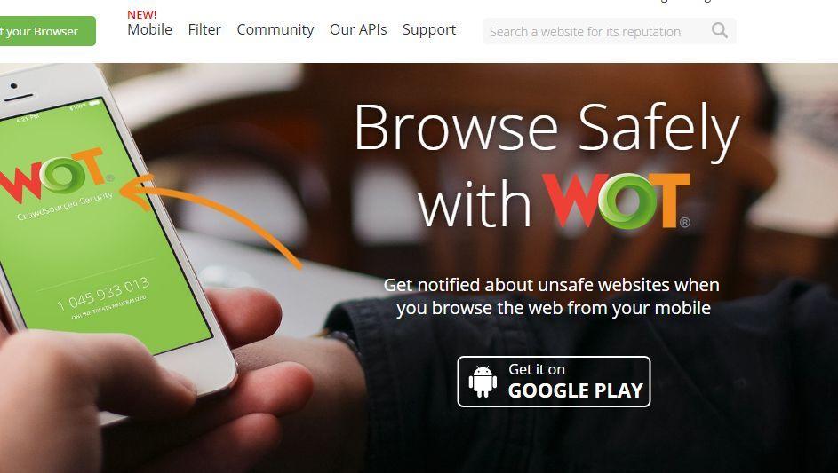 """Werbung für """"Web of Trust"""""""