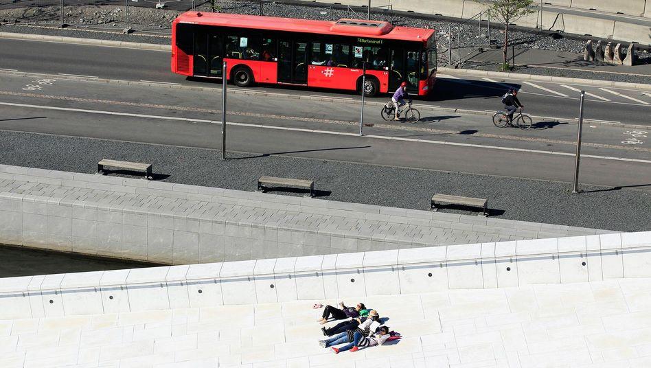 Bus und Fahrrad sollen künftig das Stadtbild von Oslo prägen