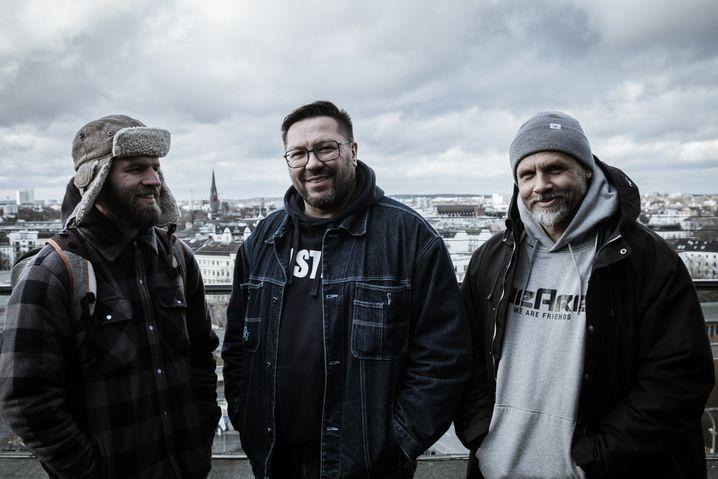 DJs im Dreierpack: Mixwell, Mirko Machine und Stylewarz (von links)