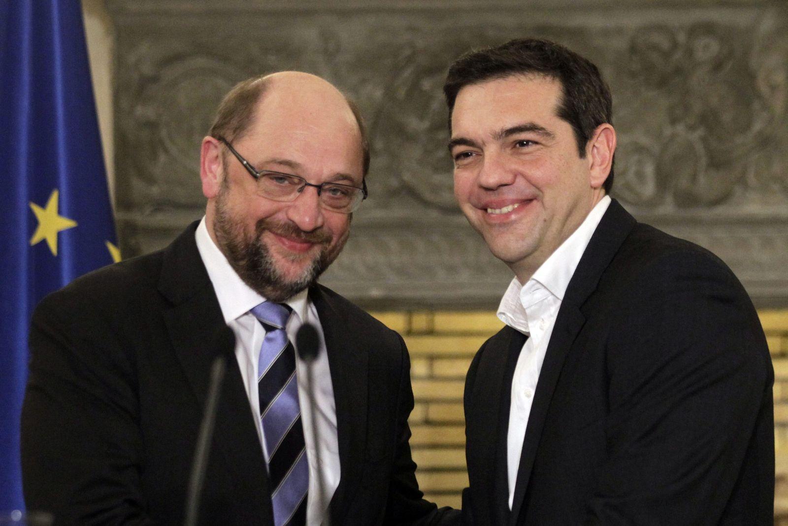 Martin Schulz/Alexis Tsipras