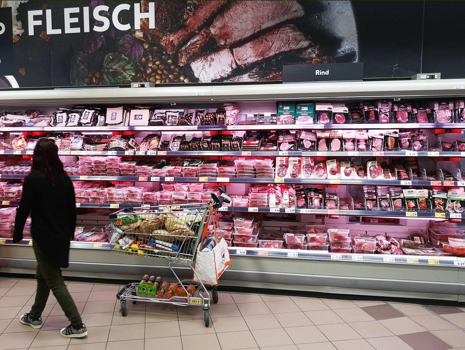 EINMALIGE VERWENDUNG Fleisch / Fleischtheke / Fleischwaren / Fleischsteuer