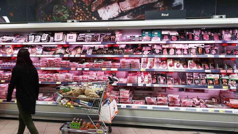 Für viele Lebensmittel wie Fleisch gilt der ermäßigte Steuersatz