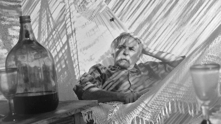 Janosch auf Teneriffa: In der Hängematte