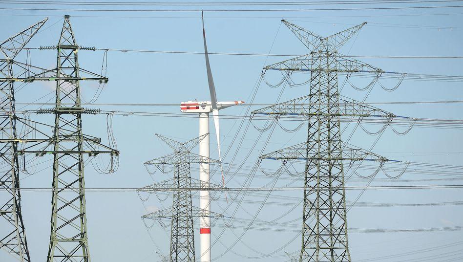 Strommasten: Netzentgelt macht etwa ein Fünftel des Strompreises aus