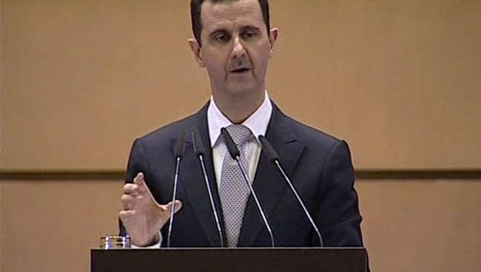Assad-Rede: Der Schlächter will sich reinwaschen