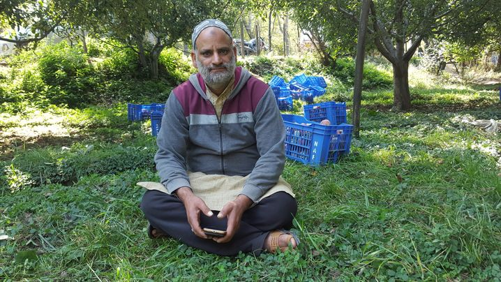 """Tanveer Ahmed Dar: """"Ever since militants began shooting truck drivers, I can't find anyone willing to transport my apples."""""""
