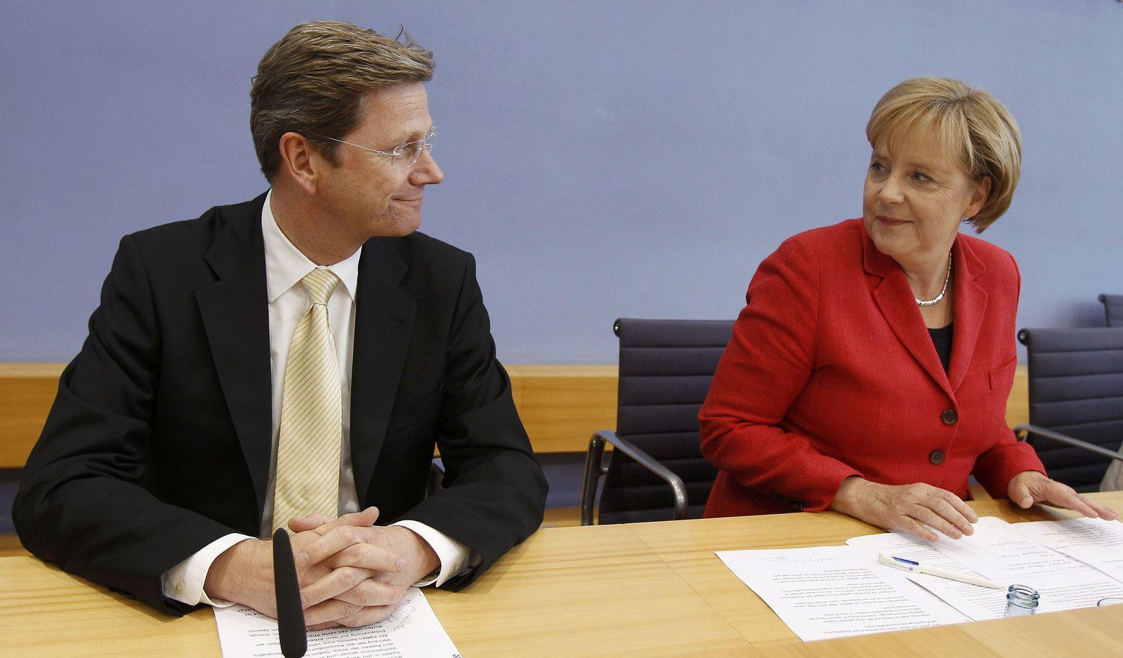Westerwelle/ Merkel/ BPK