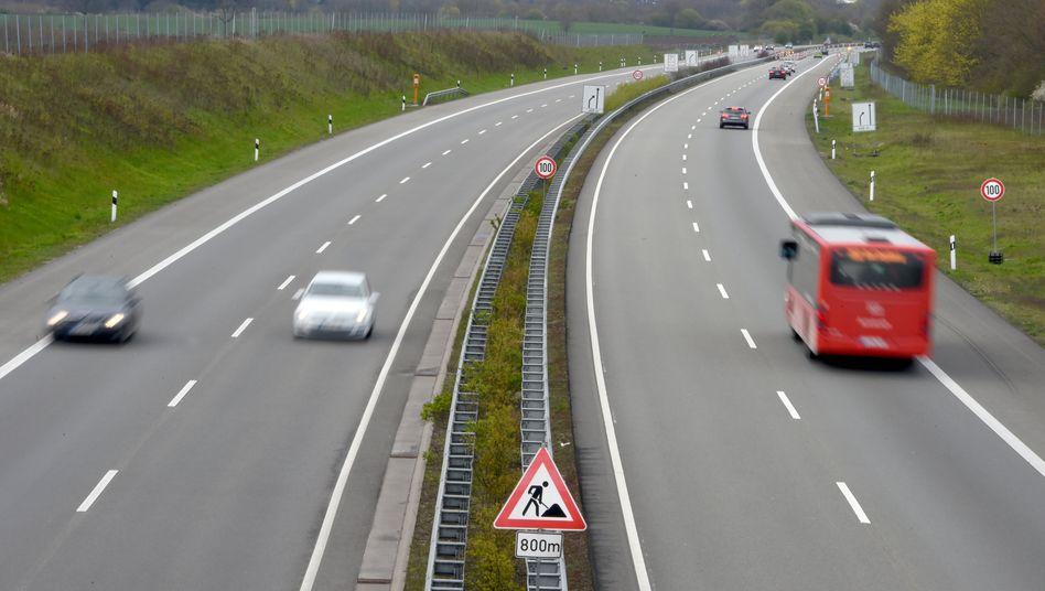Westliches Ende der A20 kurz vor Bad Segeberg in Schleswig-Holstein