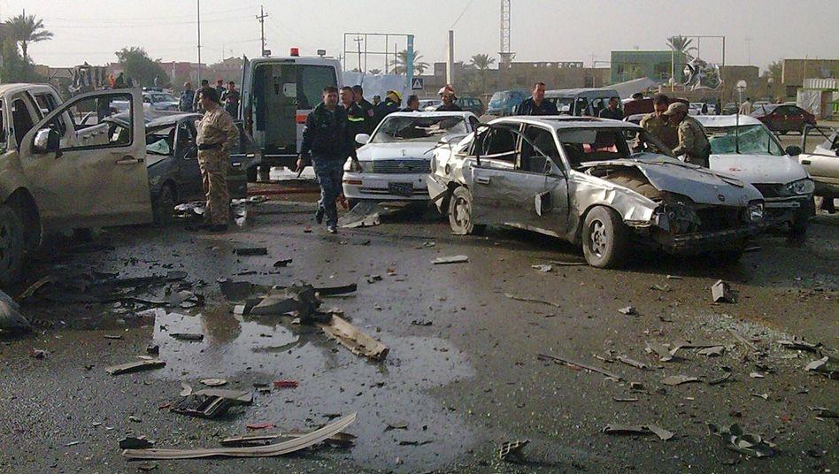 Anschlag in Ramadi: Der Attentäter ließ seine Autobombe im Stau explodieren