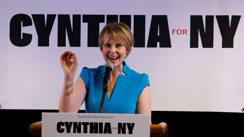 """Sex and the City""-Star: Cynthia Nixon - bald Gouverneurin?"