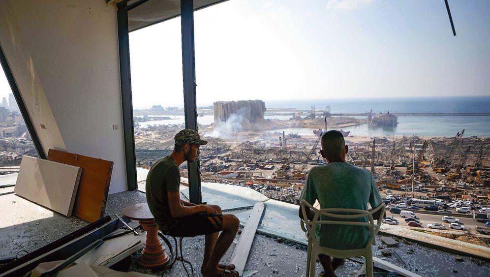 Trümmer im Zentrum von Beirut