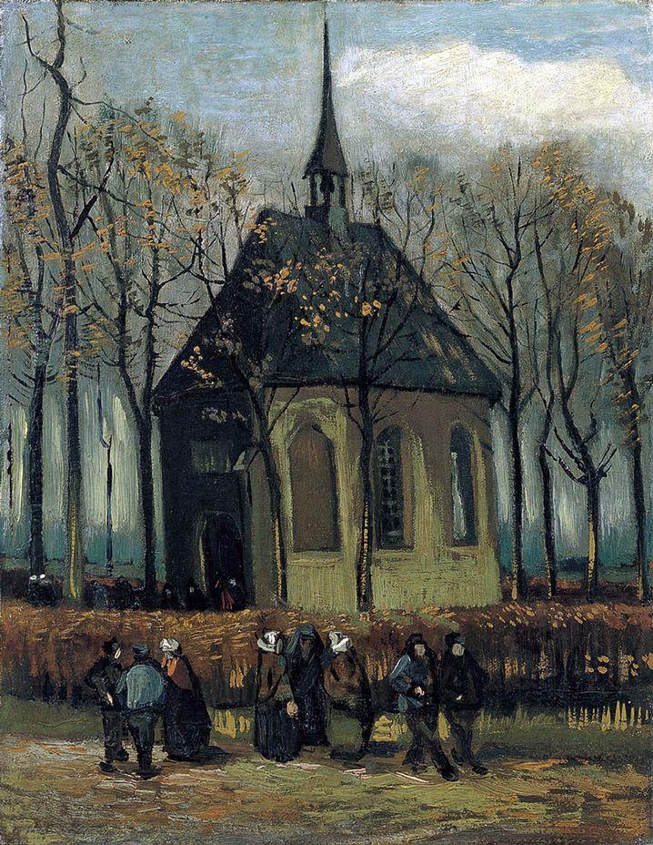 "Van-Gogh-Gemälde ""Kirche in Nuenen"""
