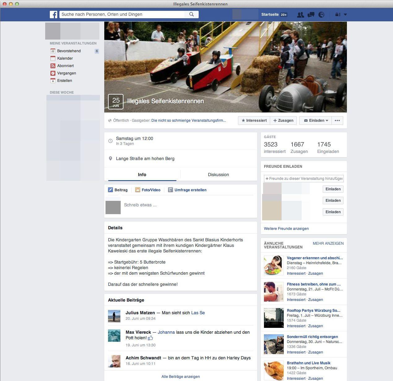 EINMALIGE VERWENDUNG Screenshot/ Seifenkistenrennen