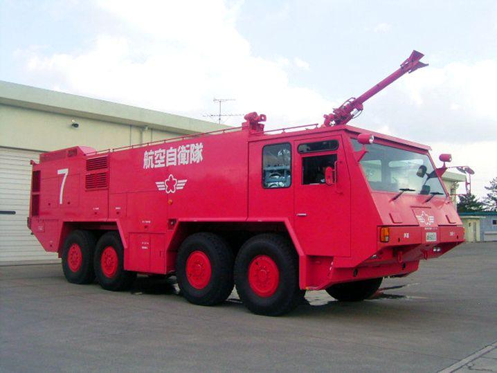 Japanischer Wasserwerfer: Fahrzeuge wie dieses kamen in Fukushima zum Einsatz