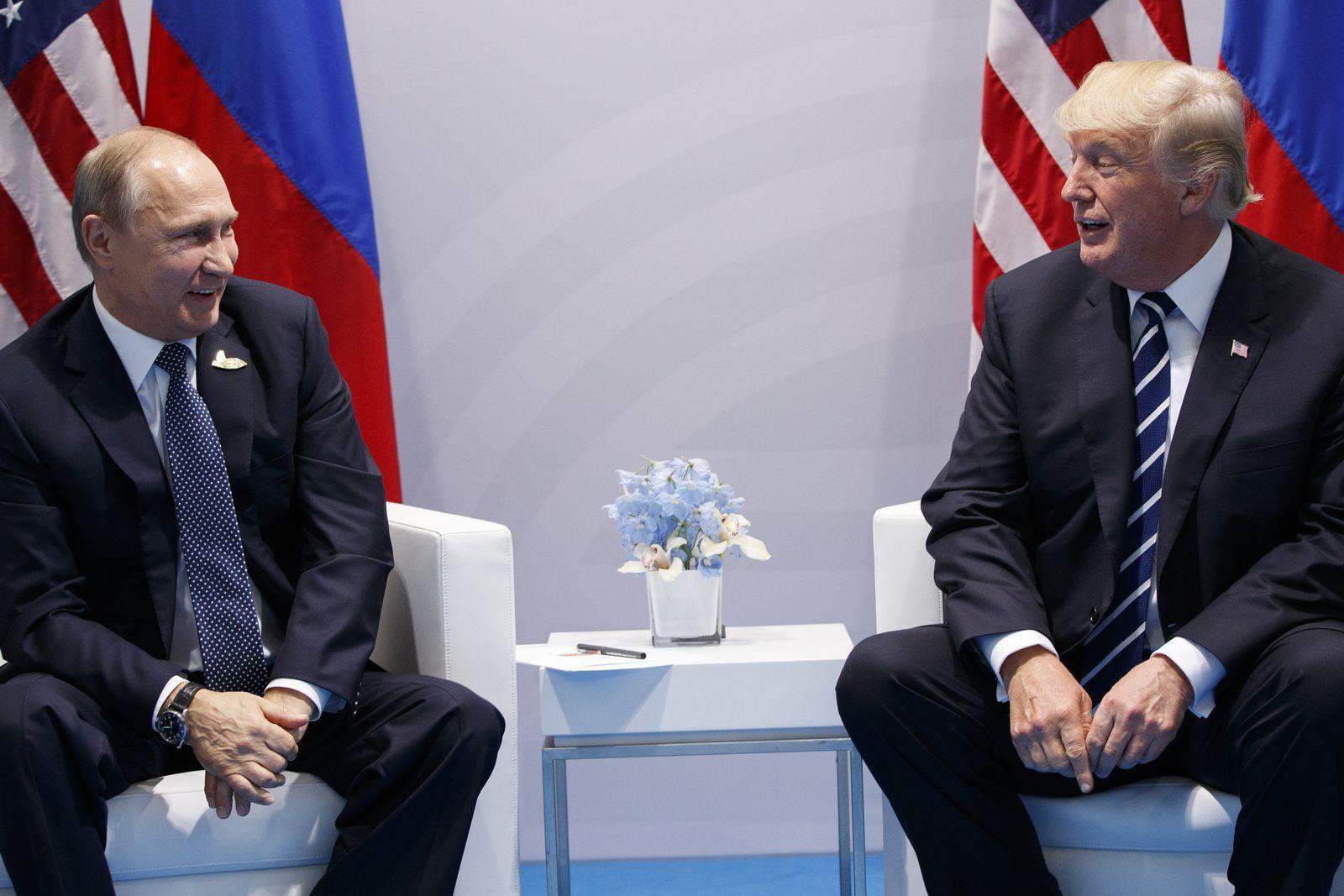 Putin Trump erstes Treffen