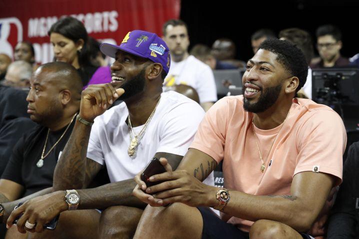 Anthony Davis (rechts) ist womöglich der beste Mitspieler in LeBron James' Karriere