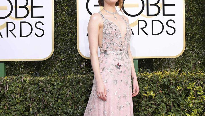 Mode bei den Golden Globes: Rosa Stars