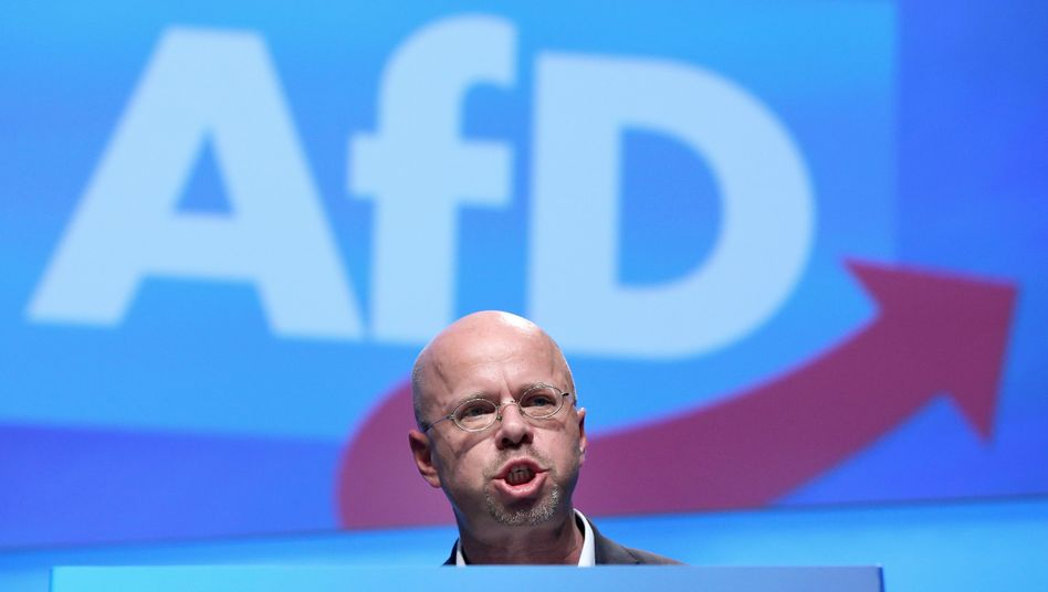 Andreas Kalbitz auf dem AfD-Parteitag in Braunschweig: Kritiker abgestraft
