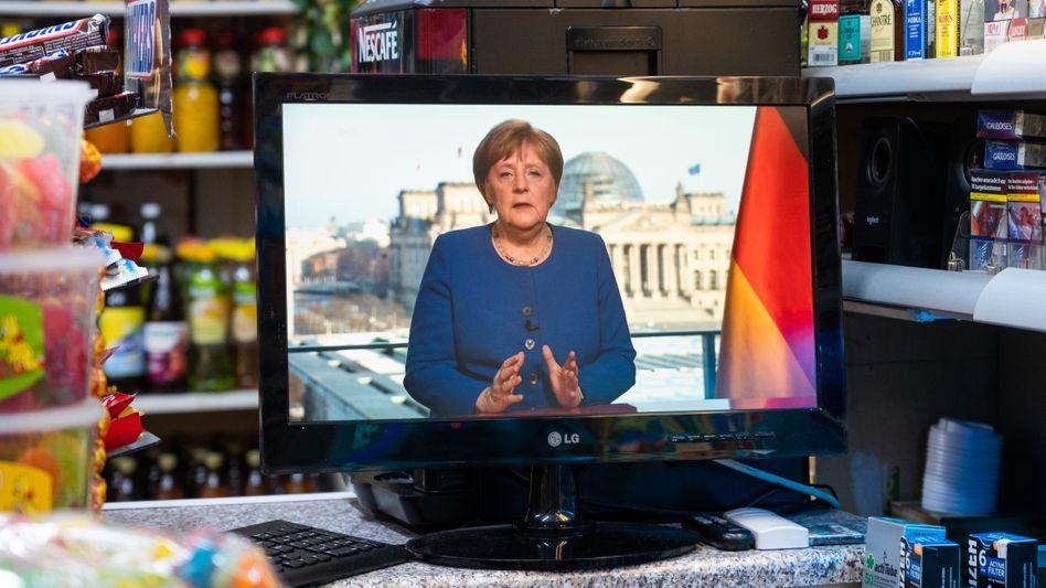 TV-Ansprache von Bundeskanzlerin Angela Merkel (im März 2020)