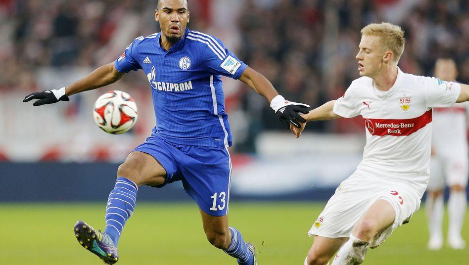 Schalkes Choupo-Moting (l.): Seit Wochen in Top-Form